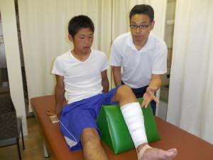 包帯固定でふくらはぎの伸長痛が軽減しました。