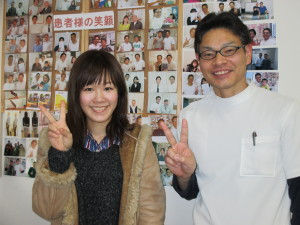 綾瀬はるか似の女医様。確か綾瀬さんも肩こりでしたね。