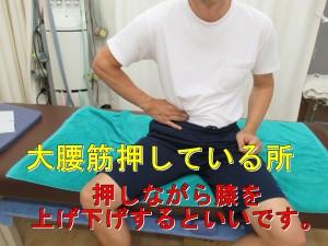 インナーマッスルの大腰筋も血流が良くなると膝に効果的です