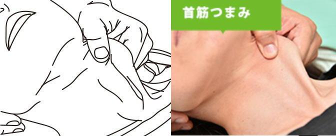 首筋つまみイラスト画像
