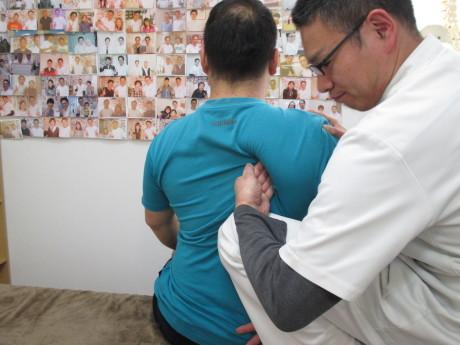 首の脊柱管狭窄症と肩甲骨はがし高槻市の患者様