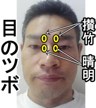 目のツボ攅竹と晴明