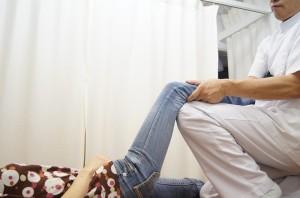 膝関節の牽引