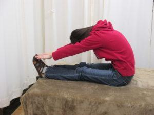 柔軟体操腰の前屈