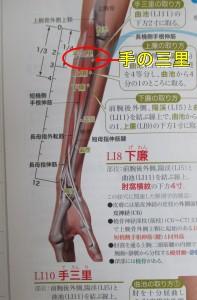 手の三里は肩コリにも効きます