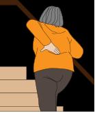 腰痛の階段上り