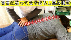 背骨に沿ってなでおろし歪み矯正背骨撫でる系